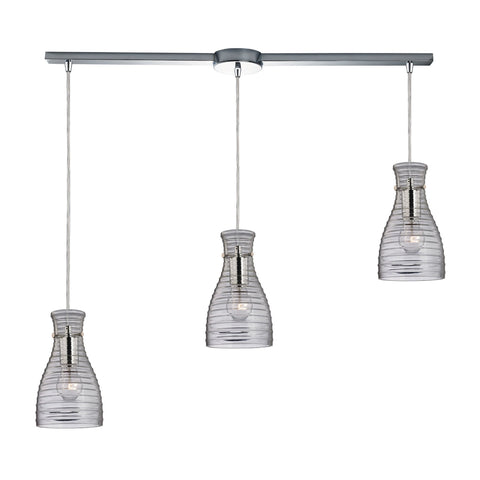 ELK Lighting 46107/3L Strata Collection Polished Chrome Finish - PeazzLighting