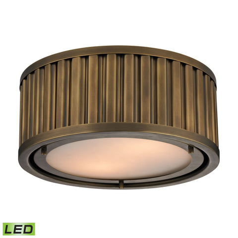 ELK Lighting 46120/2-LED Linden Manor Collection Aged Brass Finish - PeazzLighting