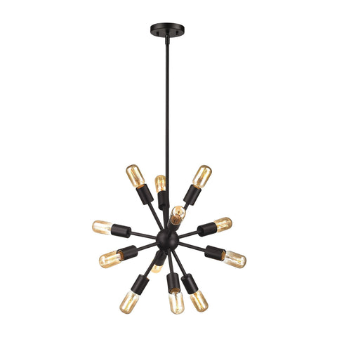 ELK Lighting 46230/12 Delphine Collection Oil Rubbed Bronze Finish - PeazzLighting