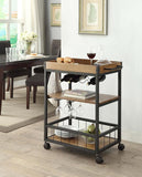 Linon 464908MTL01U Austin Kitchen Cart