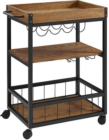 Bayden Hill 464908MTL01U Austin Kitchen Cart