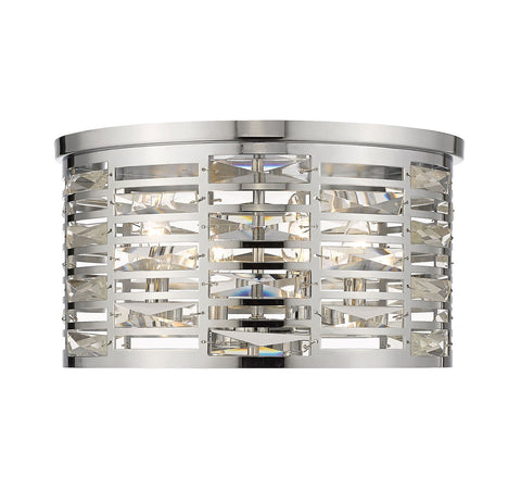 Z-Lite 469F4-CH Cronise Collection 4 Light Flush Mount Chrome Finish