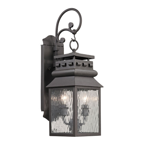 ELK Lighting 47065/2 Forged Lancaster Collection Charcoal Finish - PeazzLighting