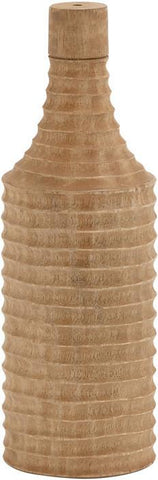 Benzara 47422 Cool And Calm Wood Ribbed Small Turning