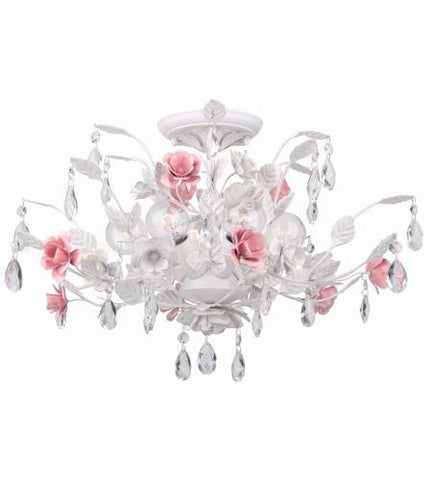 Crystorama 4850-WW Lola 6 Light Semi-Flush - PeazzLighting