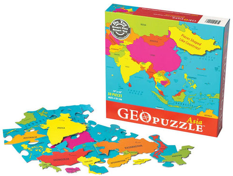 GeoToys TGEO-02 GeoPuzzle Asia Educational Geography Jigsaw Puzzle - Peazz.com
