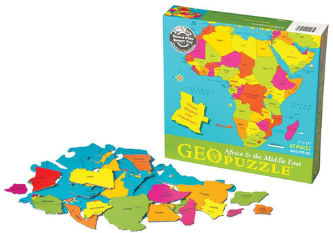 GeoToys TGEO-03 GeoPuzzle Africa and the Middle East Educational Geography - Peazz.com
