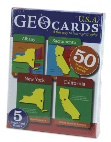 GeoToys TGEO-10 GeoCards USA Educational Geography Card Game - Peazz.com