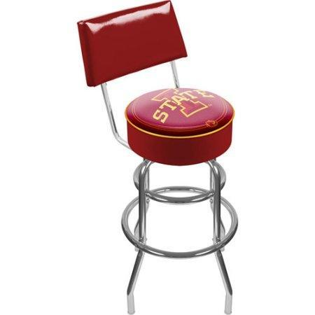 Iowa State University Lrg1100-Iosu Iowa State University Padded Bar Stool With Back