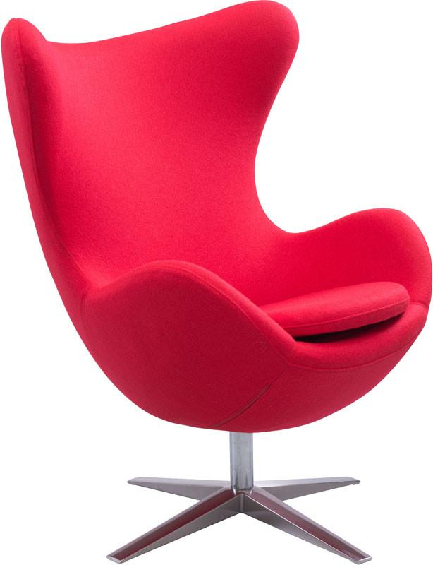 Zuo Occasional Chair Color Red Brushed Stainless Steel 10483