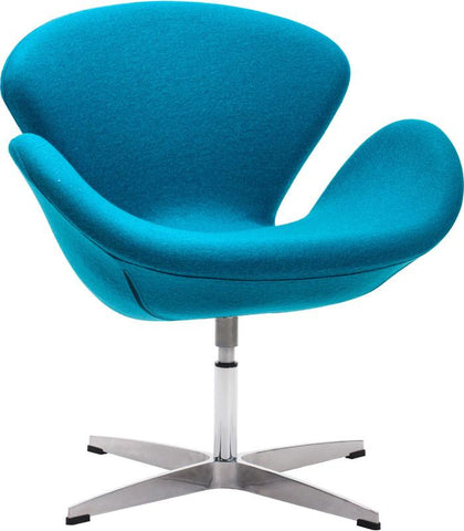 Zuo Modern 500311 Pori Occasional Chair Color Island Blue Steel Finish - Peazz.com - 1
