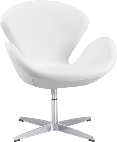 Zuo Modern 500314 Pori Occasional Chair Color White Steel Finish - Peazz.com - 1