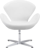 Zuo Modern 500314 Pori Occasional Chair Color White Steel Finish - Peazz.com - 3