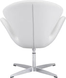 Zuo Modern 500314 Pori Occasional Chair Color White Steel Finish - Peazz.com - 4