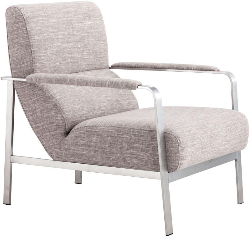 Arm Chair Color Wheat Brushed Stainless Steel 14275 Product Photo