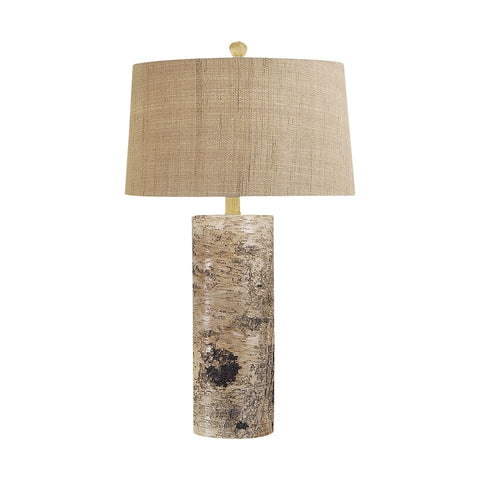 Lamp Works LAM-500 Aspen Bark Collection Natural Finish Table Lamp