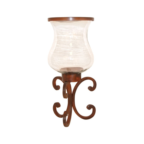 Pomeroy POM-502118 Range Collection Montana Rustic,Clear Finish Candle/Candle Holder