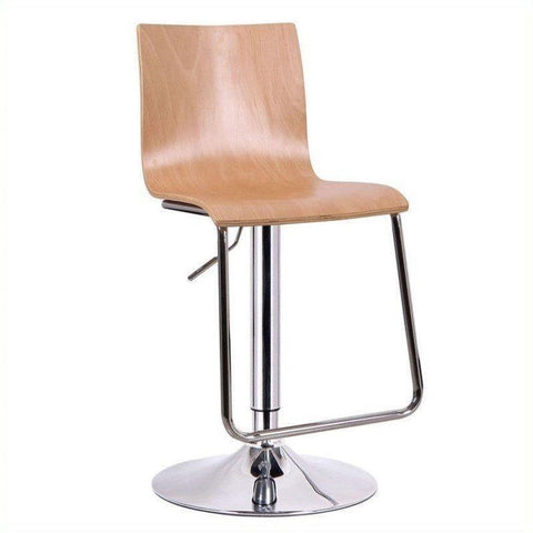 Wholesale Interiors SD-2121-nature-PSTL Lynch Light Wood Modern Bar Stool - Set of 2