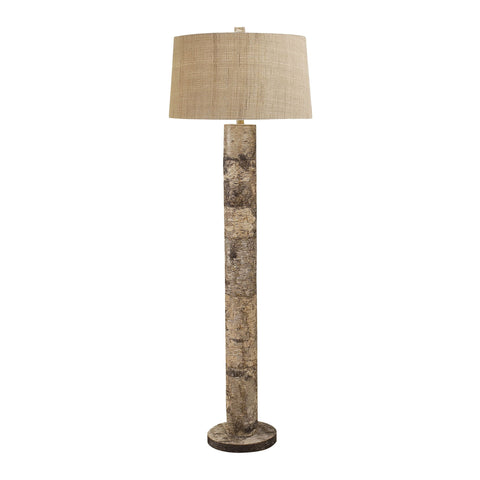 Lamp Works LAM-503 Aspen Bark Collection Natural Bark Finish Floor Lamp