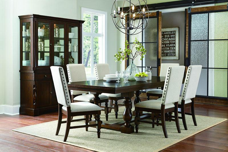 Homelegance Collection Color Neutral Fabric Burnished Dark Oak Yates