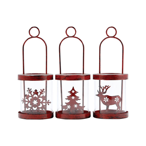 Pomeroy POM-517167 Heartland Collection Antique Red,Clear Finish Lantern