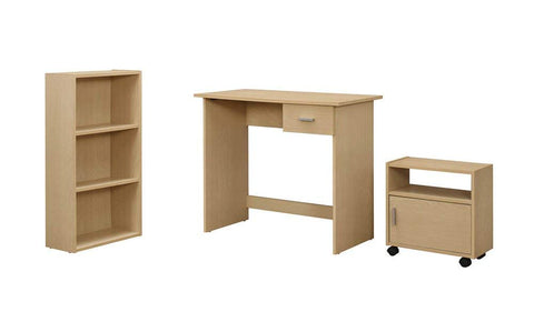 Monarch 3 Piece Computer Desk, Maple