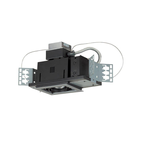Jesco Lighting MGA175-4SEBB Four-Light Double Gimbal Square Recessed Low Voltage Fixture