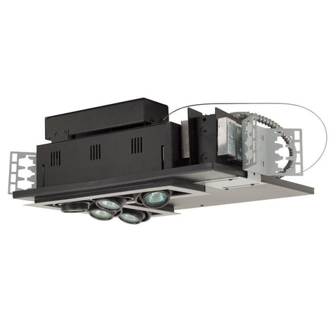 Jesco Lighting MG1650-5LESB Five-Light Double Gimbal L-Corner Recessed Low Voltage Fixture