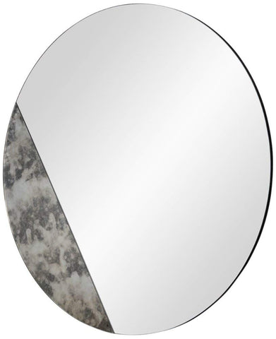 "Cella Antique Mirrored 40"" Oversized Round Wall Mirror"