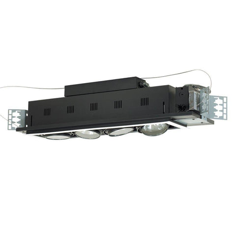 Jesco Lighting MGA175-4ESB Four-Light Double Gimbal Linear Recessed Low Voltage Fixture