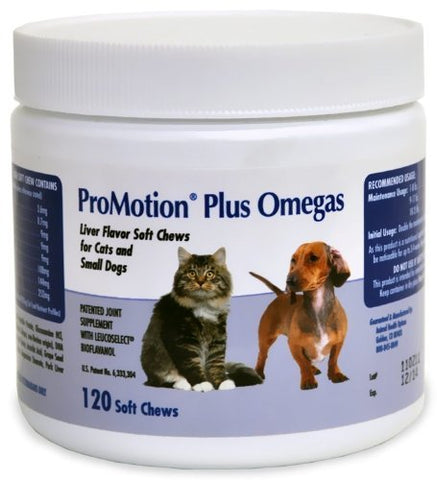 AHO 19088 ProMotion Plus Omegas Cats & Small Dogs, 120 Soft Chews - Peazz Pet