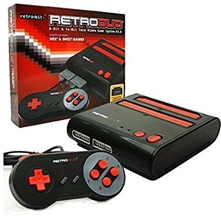 RetroDuo SNES & NES Dual 2in1 System Red-Black (RB-RD-1279)