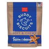 Buddy Biscuits CS-17200 Original Soft and Chewy Dog Treats Bacon and Cheese 6 ounces
