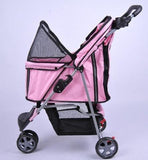 MDOG2 3-Wheel Front & Rear Entry MK0015A Pet Stroller (Pink) - Peazz.com - 5