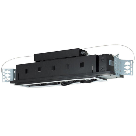 Jesco Lighting MGP20-4WB Four-Light Double Gimbal Linear Recessed Line Voltage Fixture