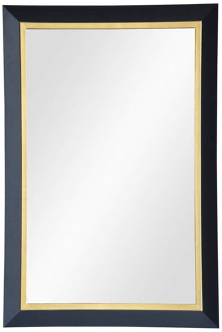 "Beillings Dark Gray and Antique Gold 24"" x 36"" Wall Mirror"