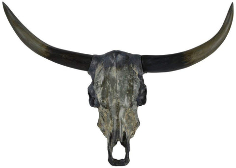 "Renwil Inc STA474 Longhorn - 24"" Statue, Grey Finish"