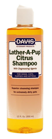 Davis Lather-A-Pup Citrus Shampoo, 12 oz - Peazz Pet