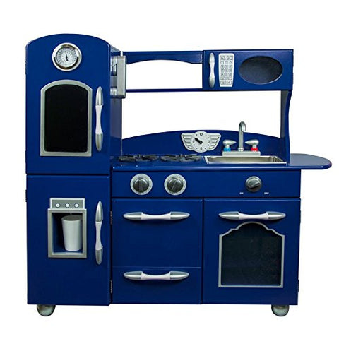 Teamson TD-11414B Teamson Kids - Little Chef Westchester Retro Play Kitchen - Navy Blue