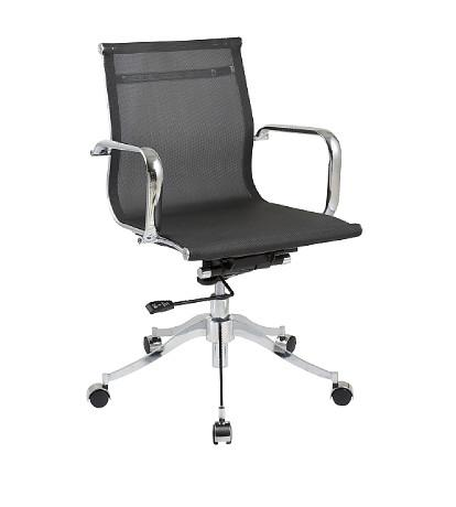 Chintaly 5205-CCH-BLK Adjustable Height Pneumatic Office Chair