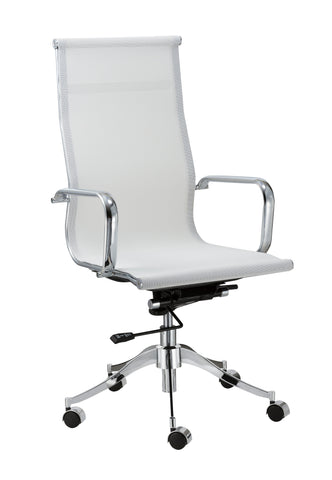 Chintaly 5207-CCH-WHT Adjustable Height Pneumatic Office Chair