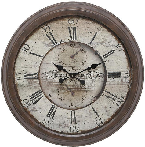 Benzara 52515 Long Lasting Metal Wall Clock For Trendy Look