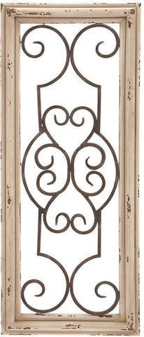 Benzara 52732 52732 Wood Metal Wall Panel Wall Decor