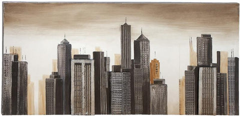 Benzara 53690 Modern Style Painting Of A Modern City Scape