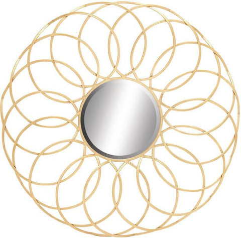 Benzara 54343 Exquisite And Elegant Metal Wall Mirror