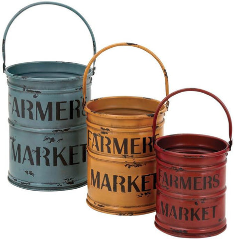 Benzara 54429 Basket With A Rich Bold Finish Of Colors - Set Of 3