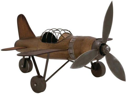 Benzara 54468 Rustic Finish Contemporary Styled Metal Plane