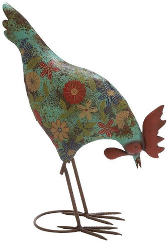 Benzara 55235 Classy Styled Multicolored Metal Rooster