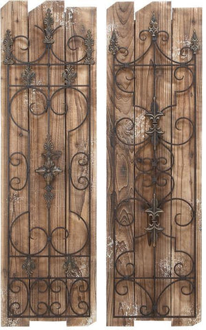 Benzara 55428 Enchanting Wooded Gate Wall Plaque
