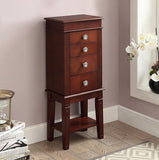 Linon 556068DWAL01U Madison Dark Walnut Jewelry Armoire